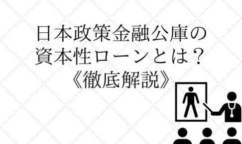 日本政策金融公庫の資本性ローン